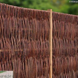 Weidenzaun LATO Solid, senkrecht geflochten, 120 x 140