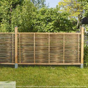 Gartenzaun Robinie LATO Kompakt, mit seitlichem Rahmen
