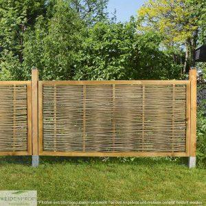 Gartenzaun Robinie CIRCO Komfort, umlaufender Rahmen