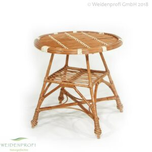 Weidenmöbel, Korbsessel mit Sitzauflage, 56x45x92